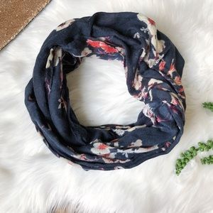 H&M Floral Navy Infinity Scarf